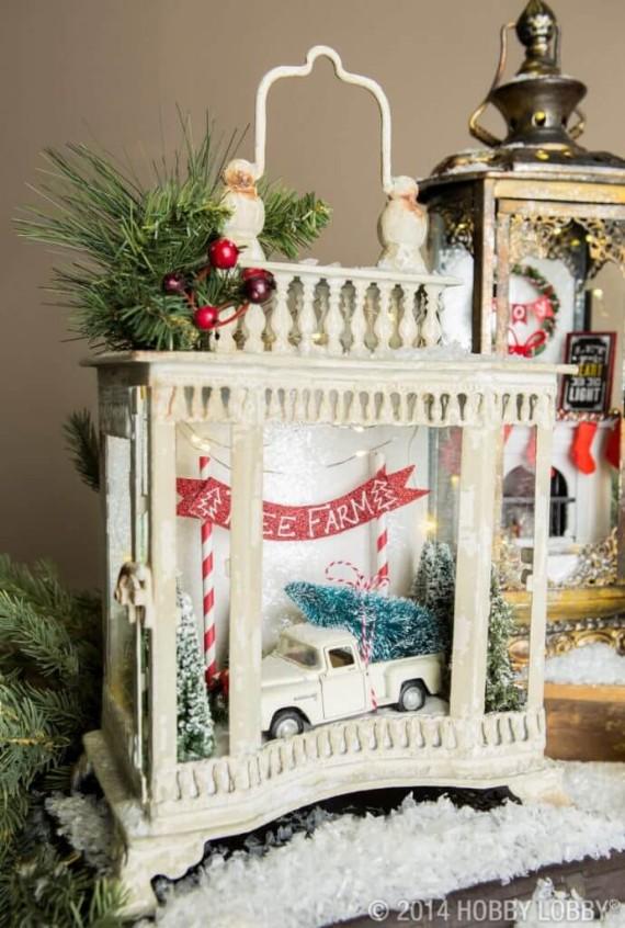 Vintage-Fireplace-Mantel-Lantern-Decor