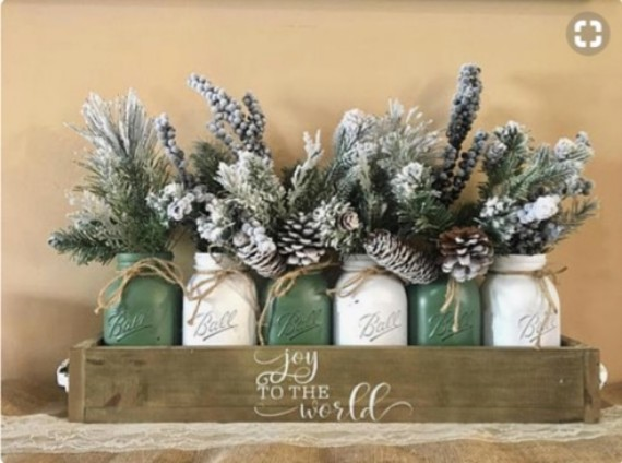 decorated jars for christmas