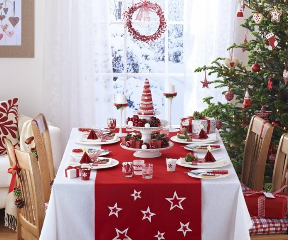 red table decorations ideas