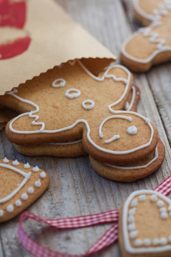 typical homemade gingerbread man cookies
