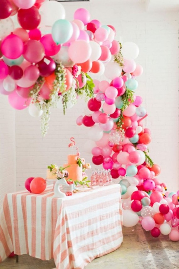 Balloon wedding decorations