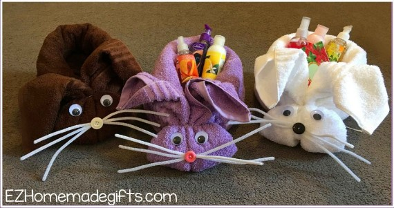 Bunny Towel Easter Baskets