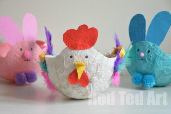 Easter-Craft-Basket-Tissue-Paper-Mache