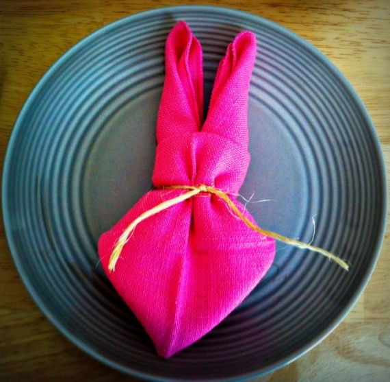 Easter-Napkin-Bunny tutorial