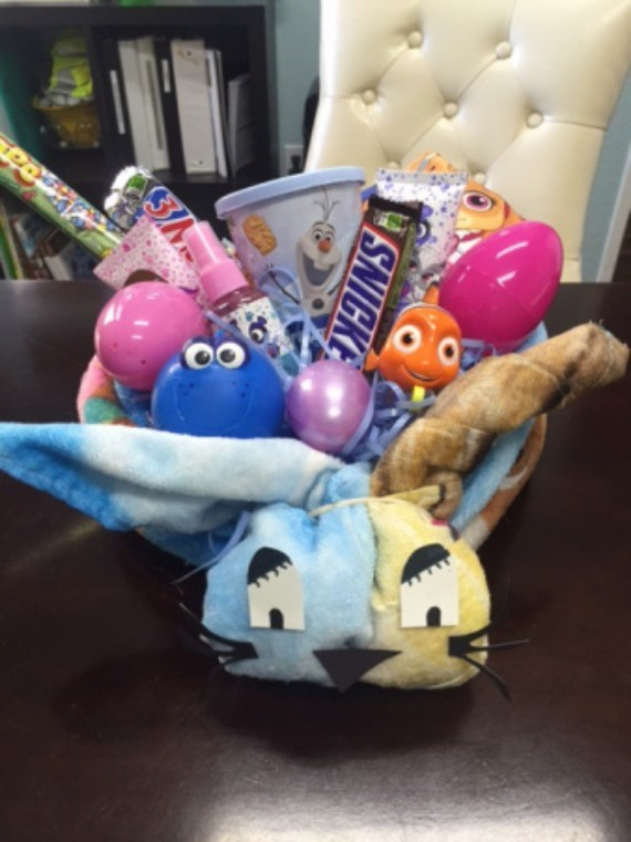 Egg Basket Bunny Napkin
