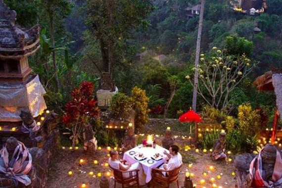 romantic dinner in the garden