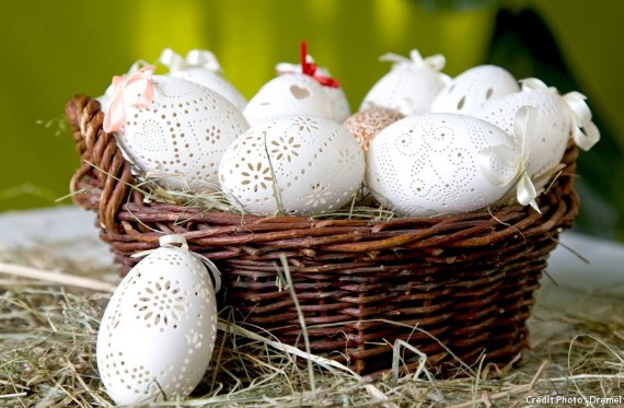Easter eggs lace