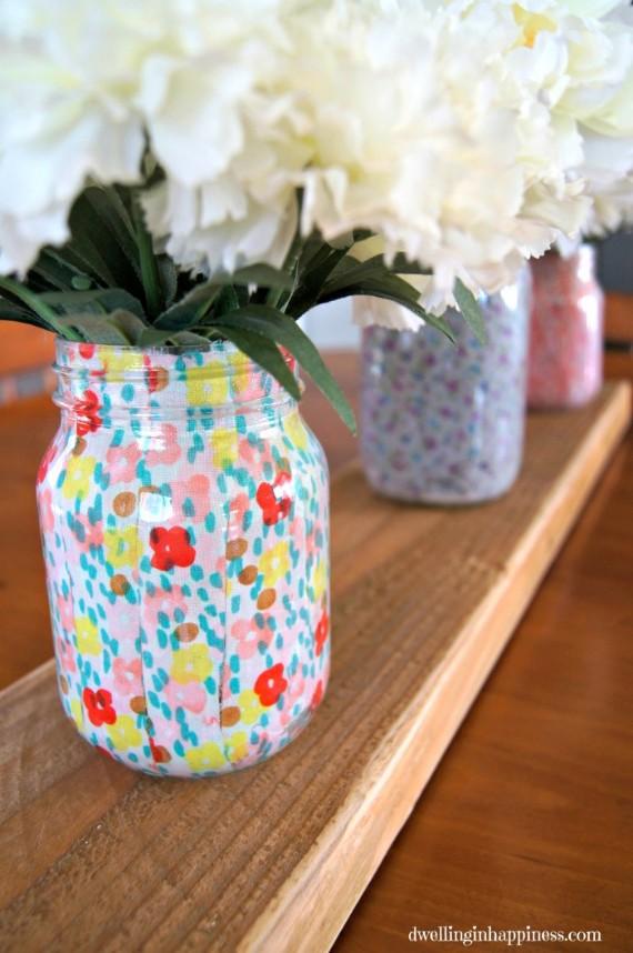 Spring Mason-Jar-Fabric-Vases