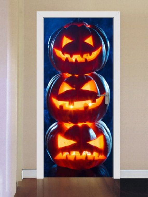 Halloween-Pumpkins-Print-Door-Stickers