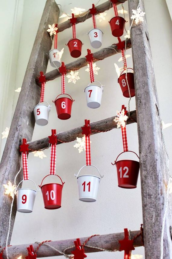 A CHRISTMAS ADVENT CALENDAR LADDER
