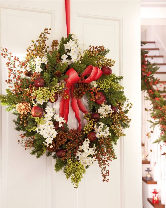 CLASSIC VERSION... Christmas wreath door decorations