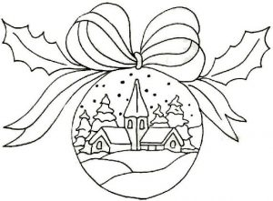 Christmas balls coloring pages 34 300x221