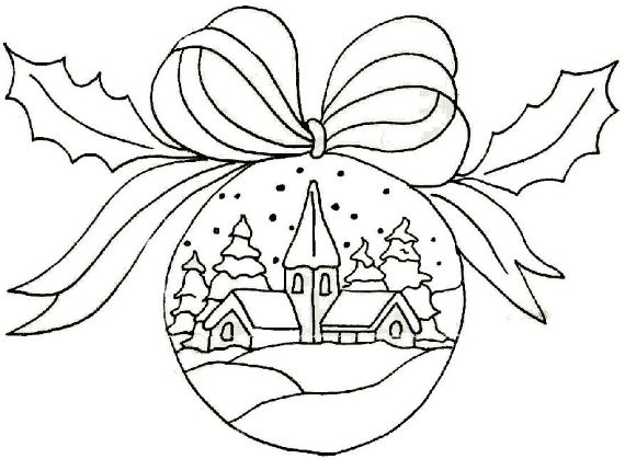 60 Christmas balls coloring pages