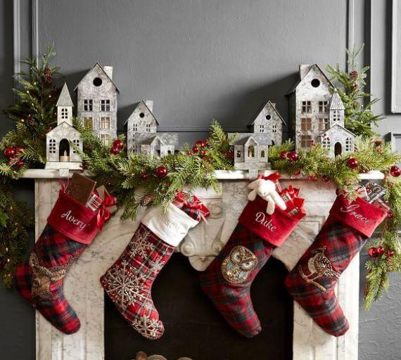 Christmas village Mantel