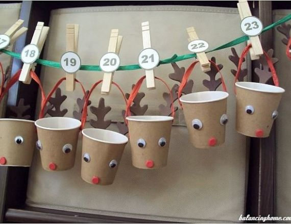 DIY ADVENT CALENDERS WITH CARDBOARD CUPS