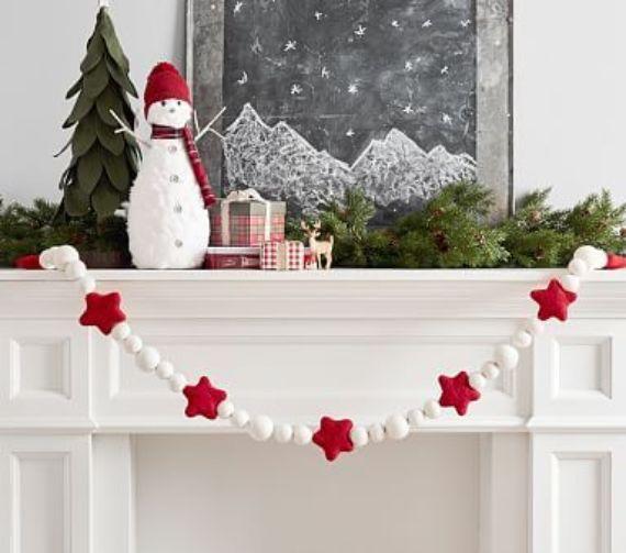 Pottery Barn Christmas mantel ideas 1