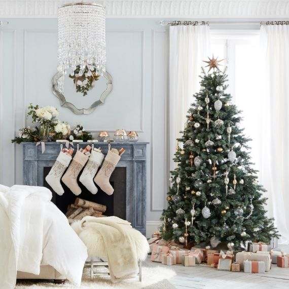 Pottery Barn Christmas mantel ideas 1