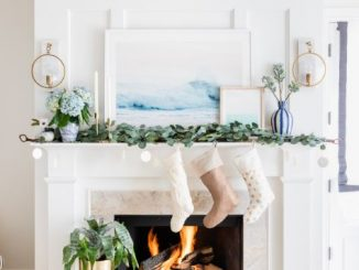 Pottery Barn Christmas mantel ideas
