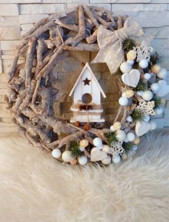 RUSTIC SWEETNESS Christmas wreath.