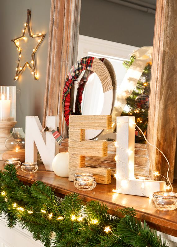Pottery Barn Christmas mantel ideas