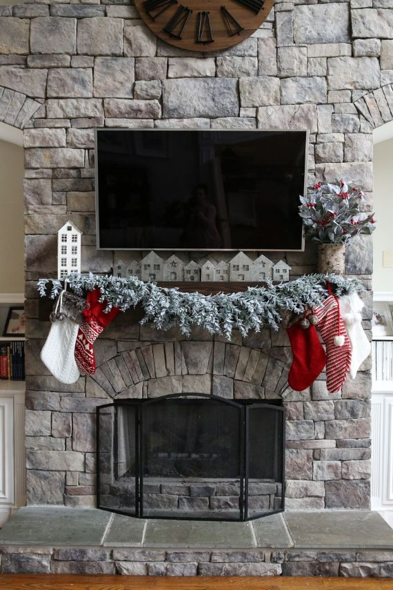 christmas-mantel-ideas-christmas-village-mantle-holiday-home-
