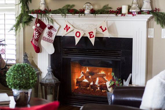 Pottery Barn Christmas mantel ideas 2