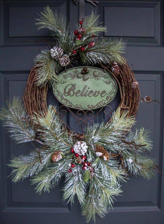unique wreath for Christmas 10
