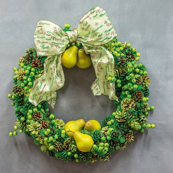 unique wreath for Christmas 14