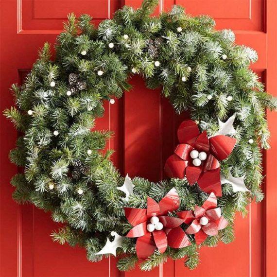 unique wreath for Christmas 18