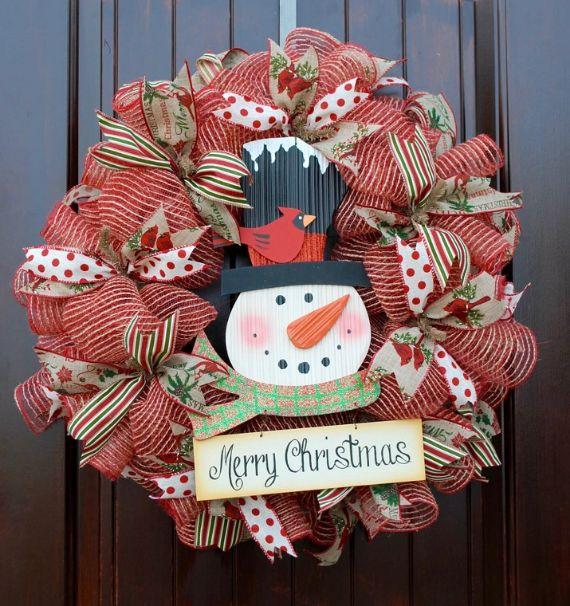 unique wreath for Christmas 19