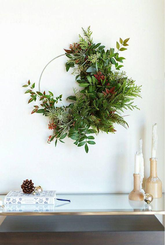 unique wreath for Christmas 31