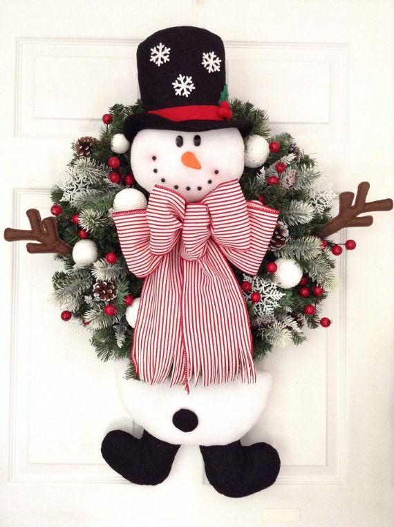 unique wreath for Christmas 36