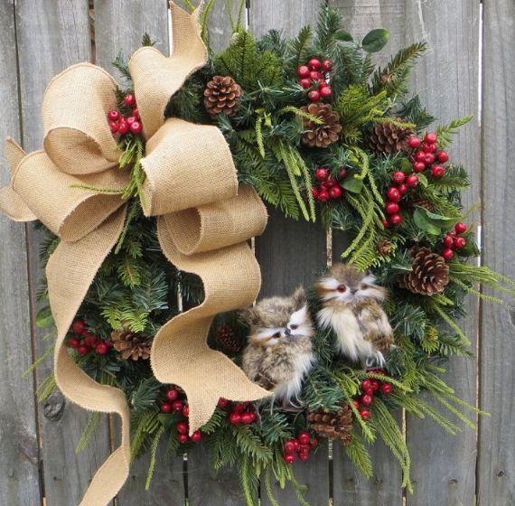 unique wreath for Christmas 39