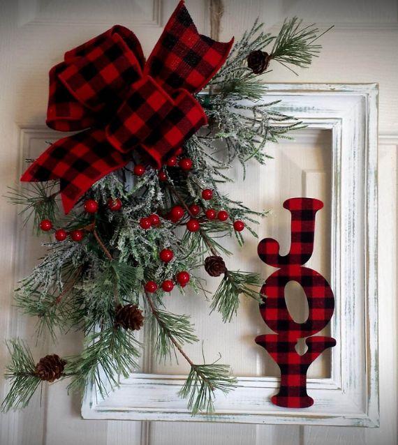 unique wreath for Christmas 45