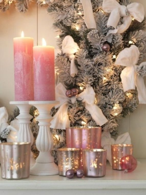 Pink-Candlelight - romantic christmas