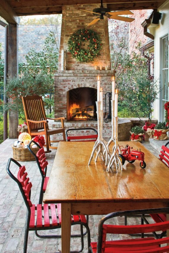 country chic Christmas decorations