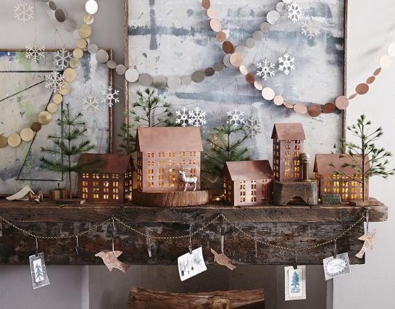 christmas villages holiday-decorating-trends