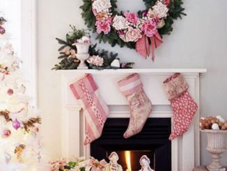 pink christmas style-romantic christmas