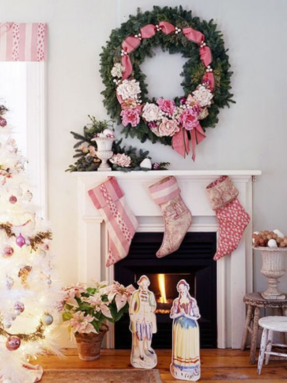 pink christmas style-romantic christmas