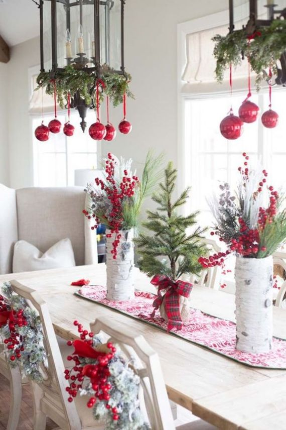 red-ornaments-berries-evergreens-snowy-Christmas-wreaths-and-evergreens-for-natural-holiday-decor