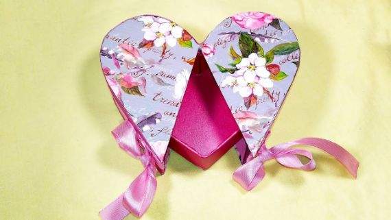 DIY Heart shaped gift box