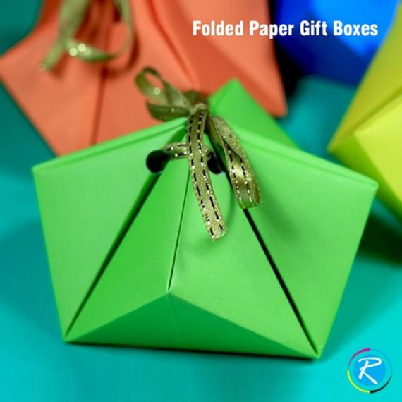 ORIGAMI GIFT BOXES/origami gift box with lid;
