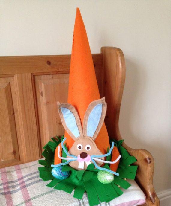 Carrot-Easter-Paper Mache Cone