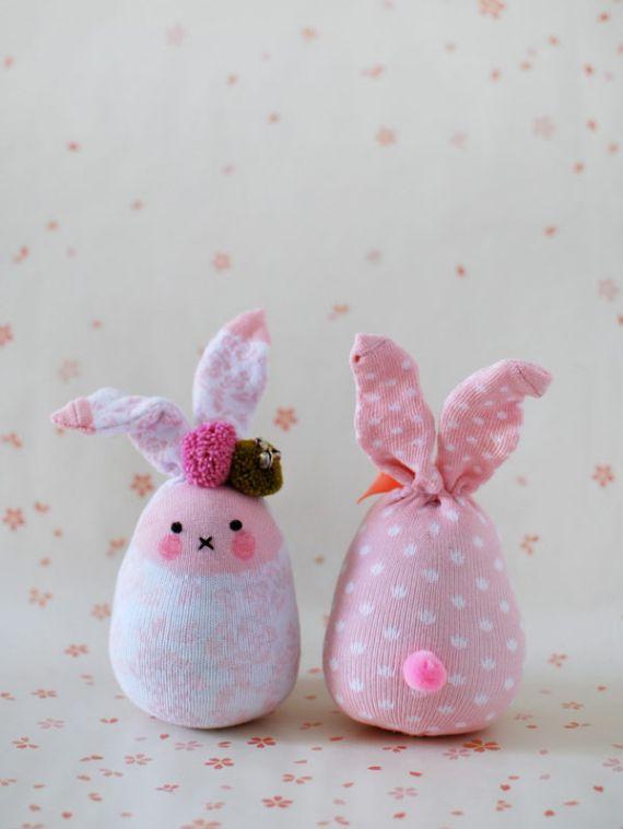 Cute Sock Easter Bunny