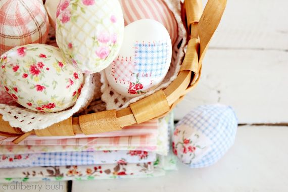 FABRIC WRAPPED EASTER EGGS