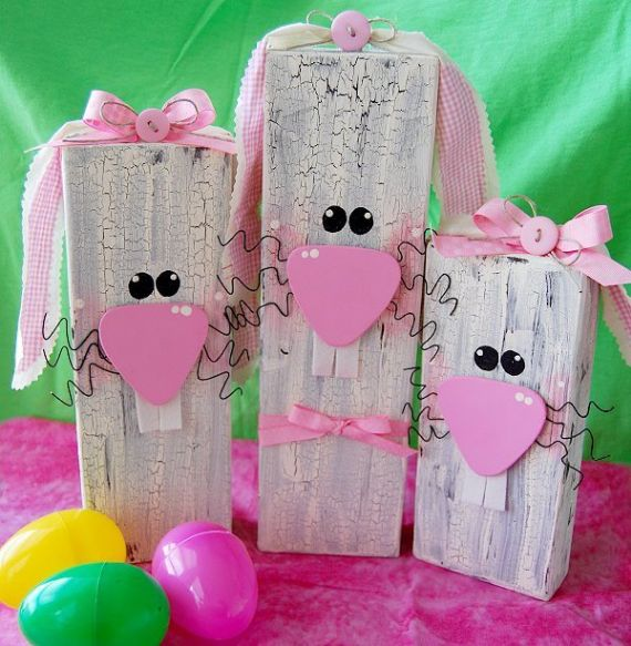 Easter Crafts – 2×four Scrap Wooden Bunny (1)