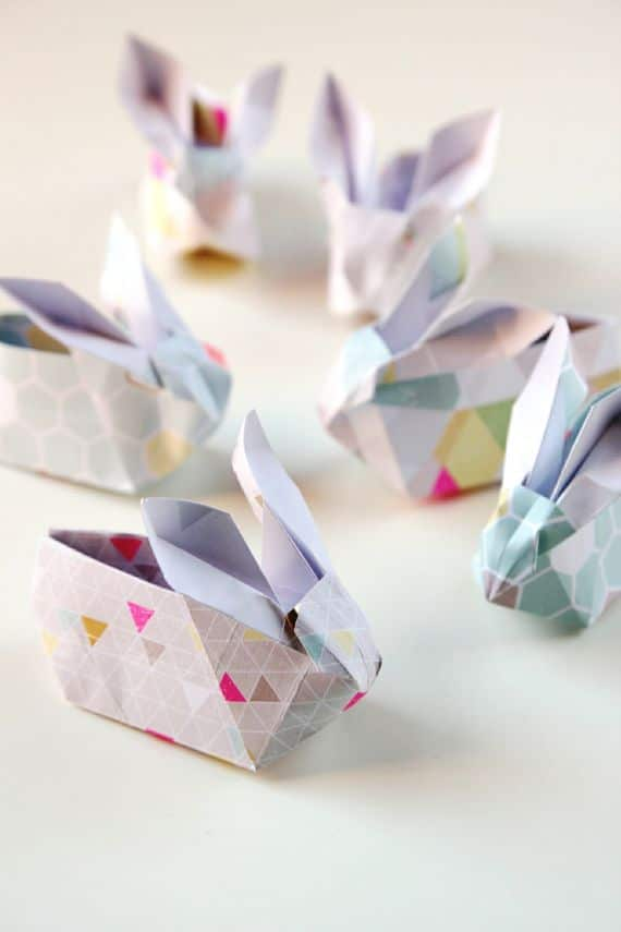 Easter Origami Bunny Baskets