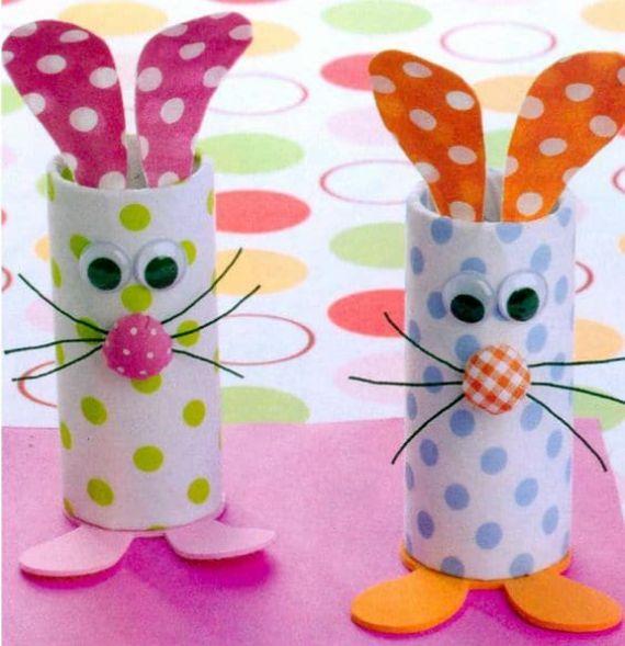 Easter bunnies toilet rolls (1)