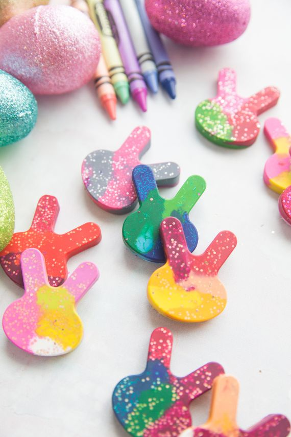 Glitter Bunny Crayons