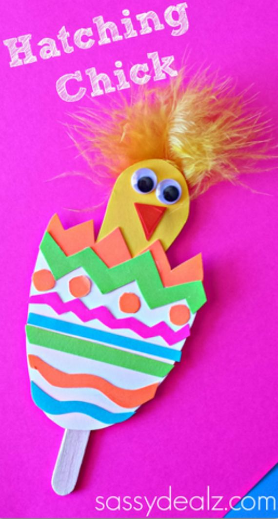 hatching-chick-craft-easter_Popsicle Sticks (Easter Egg)